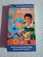 Blues Clues Blues Discoveries VHS SLIP SLEEVE TESTED FREE S/H