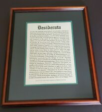 "Framed 18 1/4"" x 14 3/4"" Desiderata Poem - Found In Old Saint Paul's Church 1692"
