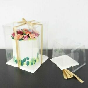 Crystal Cake Box PME Clear Tall Cake / Gift Box Various Sizes  Fast Dispatch