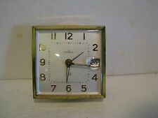 Vintage Rensie Watch Comp 7 Jewel German Travel Alarm Clock no Case post 1940
