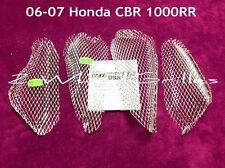 2006 HONDA CBR1000RR 4 PIECE CHROME FAIRING GRILLS SCREENS MESH VENTS