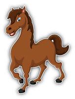 Cute Horse Car Bumper Sticker Decal 4'' x 5''
