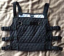 BLACK Top Vest CYBER GOTH INDUSTRIAL RIVET HEAD COS PLAY DEMENTIA Clothing RARE