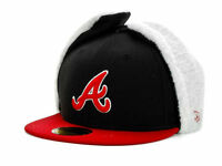 New Era 59Fifty Atlanta Braves MLB Dogear Fitted Cap Black & Red Hat $45