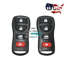 2  Keyless Entry Remote Key Fob Clicker Transmitter Beeper 4 Button(fit:nissan)