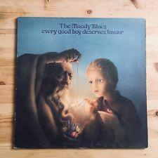 "Moody Blues Every Good Boy Deserves Favour 12"" Vinyl LP 1971 Threshold Records"