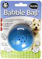PetQwerks Talking Babble Ball Dog Toy, Medium .
