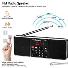 Mini Portatile Digitale FM Radio Receiver Audio Player USB TF Card AUX-IN E5F5