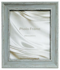 Cornwall Range Vintage Antique Style Distressed Picture Photo Frame Various Size Distressed Blue 30x30cm