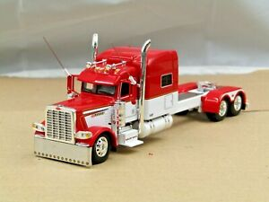 Dcp Custom stretched&lowered red/white Peterbilt 389 Pride&Class tractor 1/64