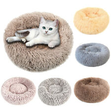 Ultra Soft Donut Round Dog Cat Pet Bed Faux Fur Cuddler Warm Sleeping Mat