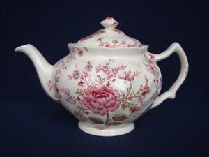 Vintage Johnson Bros ROSE CHINTZ 4-1/2 Cup Teapot