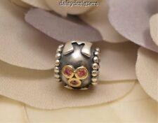 Authentic PANDORA Silver 14k Gold MOM Mother Charm 790574CZS RETIRED