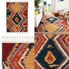 Farmhouse Yellow/Red 4 Ft. X 5 Ft. Area Rug