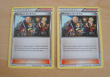 Pokemon TCG: 2x Hooligans Jim & Cas Cards. Black & White Dark Explorers