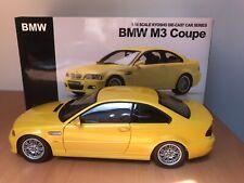 BMW M3 E46 KYOSHO 1/18 Yellow Jaune Gelb