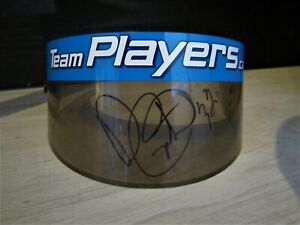 Patrick Carpentier signed Player's Forsythe racing visor. Champcar