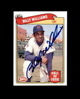 Billy Williams Hand Signed 1989 Swell Baseball Greats Chicago Cubs Autographed