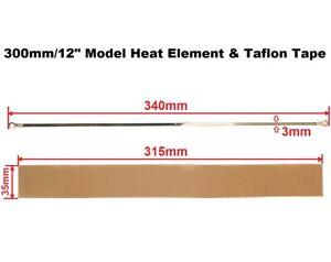 "3mm Width Heat Element & Teflon Tape for 300mm/12"" Impulse Heat Sealer Machine"