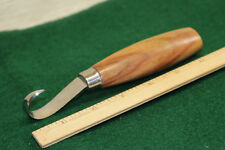 SINGLE EDGED ROSEWOOD HANDLE WOOD CARVING HOOK KNIFE CROOKED WOODCARVING INSHAVE