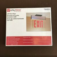 EXIT SIGN UTILITECH 144531 CLEAR BACK RED LED EXIT SIGN