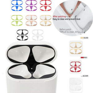 Metal Dust Guard Sticker Decal Skin Protector For Apple AirPods Pro Case Solid