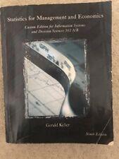 Statistics for Management and Economics Ninth Edition Gerald Keller (Textbook)