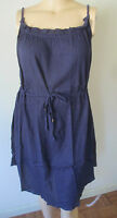 NWOT Womens Roamans Swimsuit Cover-Up Dress 1X/2X 22W-28W Navy Blue Gauze