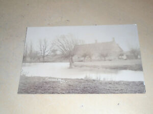 EARLY 1905 REAL PHOTO PC - CHOWNS MILL, Nr IRTHLINGBOROUGH, NORTHAMPTONSHIRE