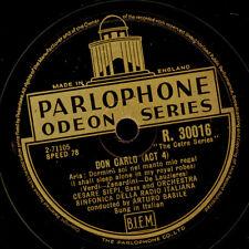 "CESARE SIEPI -Bass-  ""Don Carlo""  Dormiro sol nel manto... / Ella giammai  G2588"
