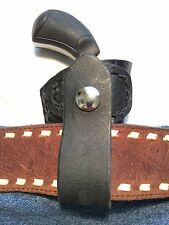 NORTH AMERICAN ARMS PUG 22MAG DERRINGER CROC BLACK LEATHER HOLSTER