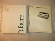 lot of 2 Macintosh manuals Macintosh referance & Imagewriter II manual