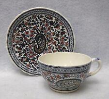 GIEN France china CACHEMIRE pattern Cup & Saucer Set
