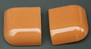 "2 Chocolate Brown Bullnose Ceramic Trim Tile Outside Radius Corner 2"" X 2"""