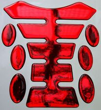 Mirror Red 3D Resin Gel Tank Pad K1