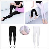 Kids Girls Boys Stirrup Dance Tights Pantyhose Yoga Gymnastics Ballet Stockings