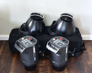 "Elinchrom BRX 500 Monolight Set with 8"" Reflectors Case 500 WS Strobes (#7727)"