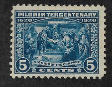 US #550 (1920) 5c Pilgrim Tercentenary: Signing of the Compact - MH - VF