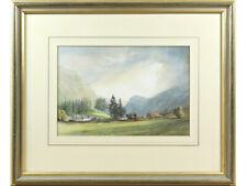 Rosthwaite & Borrowdale Fells, Lake District - D Keith Johnson - Watercolour