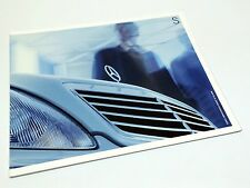 2002 Mercedes-Benz S-Class S 430 S 500 S SS AMG S 600 W220 Brochure
