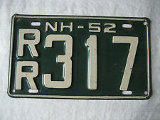 VINTAGE 1952  NEW HAMPSHIRE   LICENSE PLATE