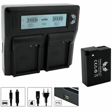 SK Akku für Panasonic DMW-BLC12 E 1100mAh + Dual Charger | 1065105 90105 90384