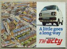 HONDA TN-ACTY PICK UP & VAN Sales Brochure c1983