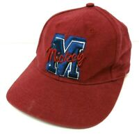 The Disney Store Mickey Mouse Baseball Hat Cap Maroon Red Embroidered Snap Back
