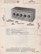 1953 PILOT PA-912 TUBE AMPLIFIER SERVICE MANUAL PHOTOFACT schematic amp DIAGRAM