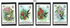 Album Treasures Montserrat Scott # 497-500  Birds of Montserrat Set MLH