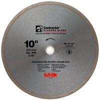 "MK Diamond-10""x5/8"" Contractor Quality Wet Cutting Continuous Rim Diamond Blade"
