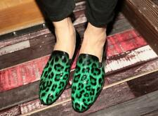 Punk Chic Men Leopard Printed Loafers Slip on Clubwear Dress Leather Shoes New