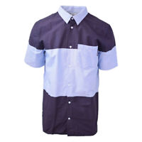 DC Shoes Men's Classic Two Tone Blue Oxford S/S Woven Shirt (Retail $55)