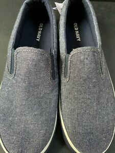 Old Navy Boys Sneakers Slip On Shoes Canvas Gray Size 5 EUR 24